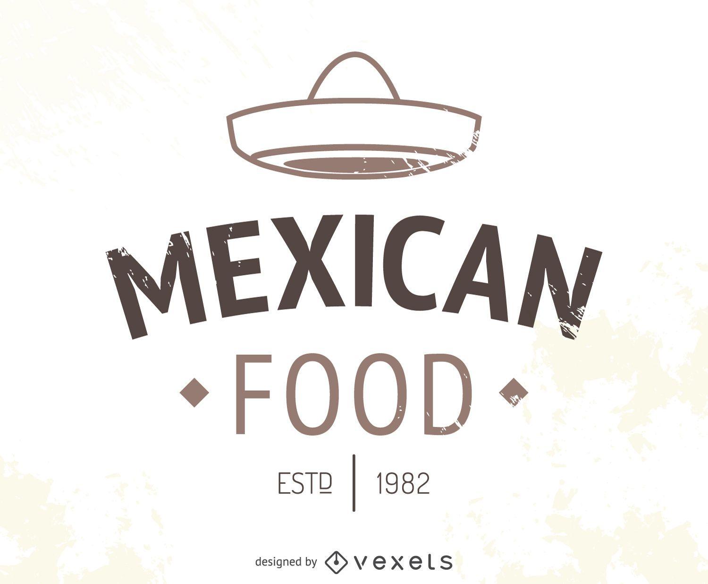 Logo de restaurante mexicano con sombrero