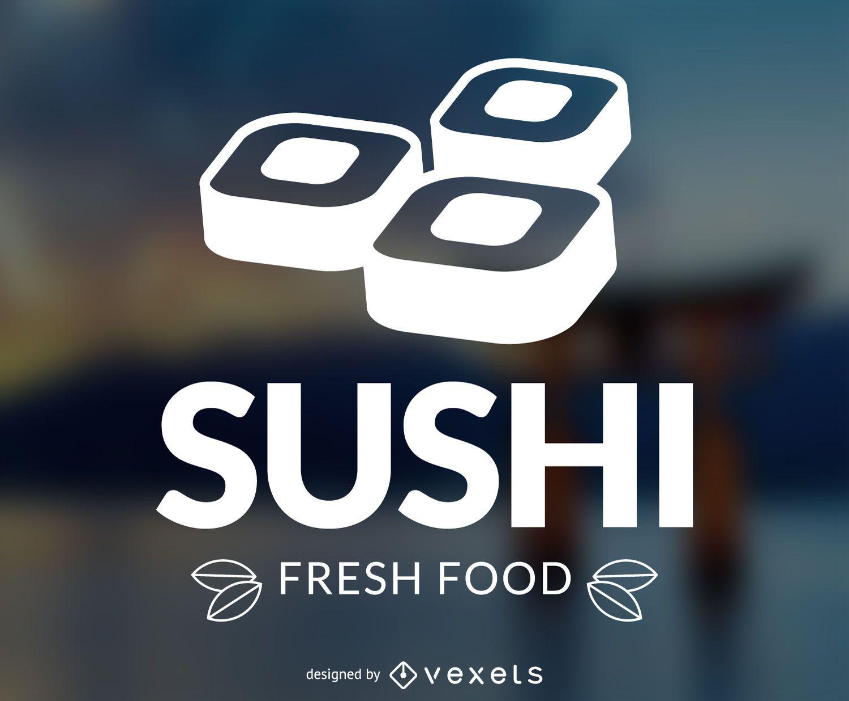 Plantilla de logotipo de sushi