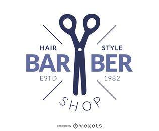 Logotipo de peluquería de peluquero