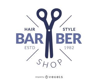 Logotipo de salão de cabeleireiro de barbeiro