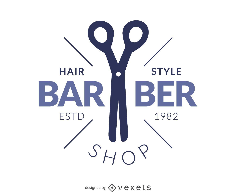 Barber hair salon logo