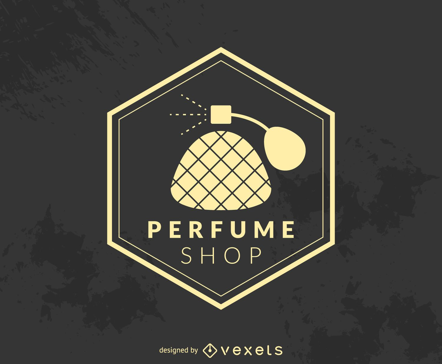 Hipster perfume shop logo - Vector download
