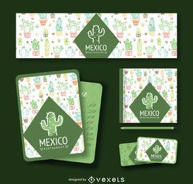 Marca de cactus mexicano