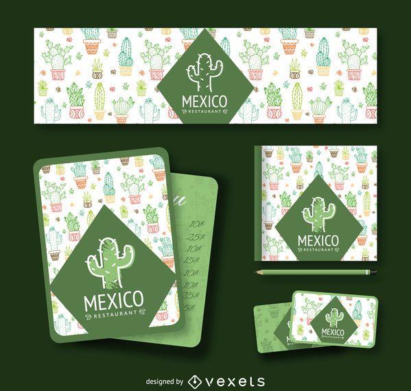 Mexican cactus branding