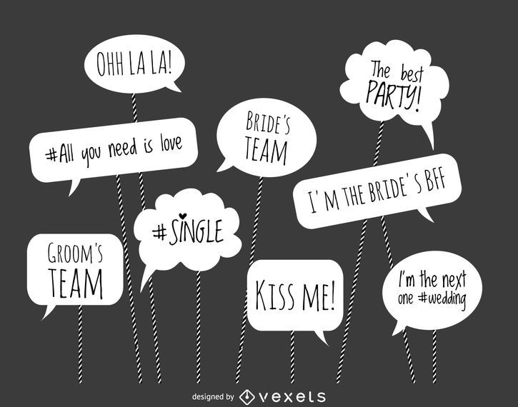 Wedding Photo Booth Phrases Vector Download