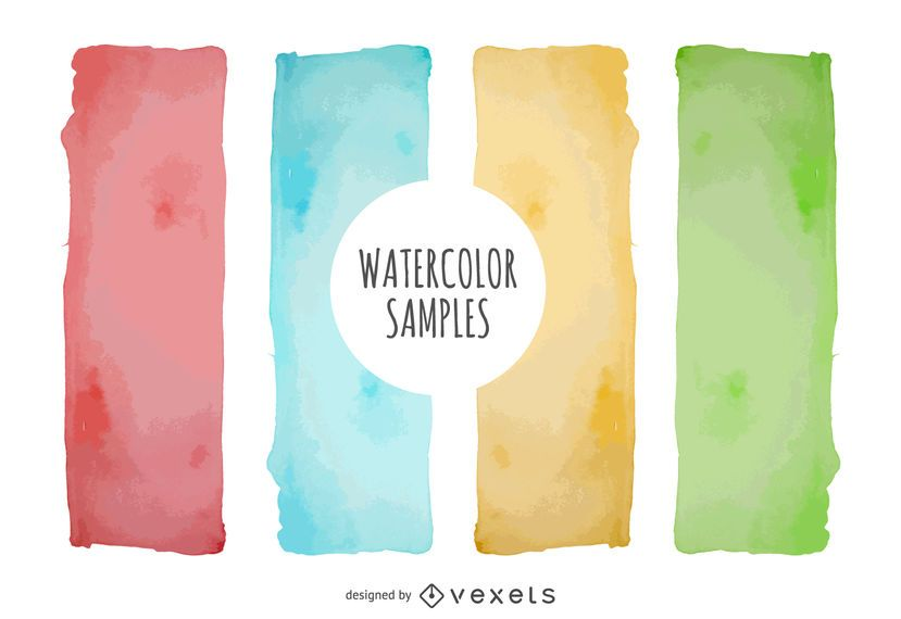 Watercolor banner set