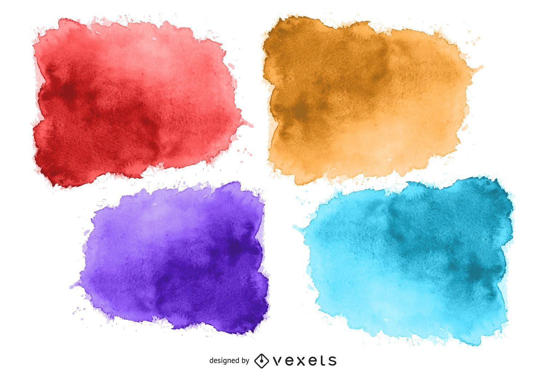 Conjunto de tinta aquarela