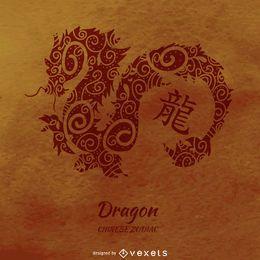Chinesische Horoskop Drachenzeichnung
