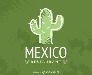 Restaurante mexicano cactus logo