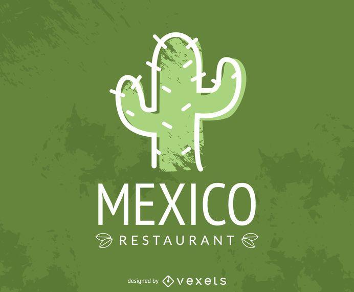 Mexican restaurant cactus logo
