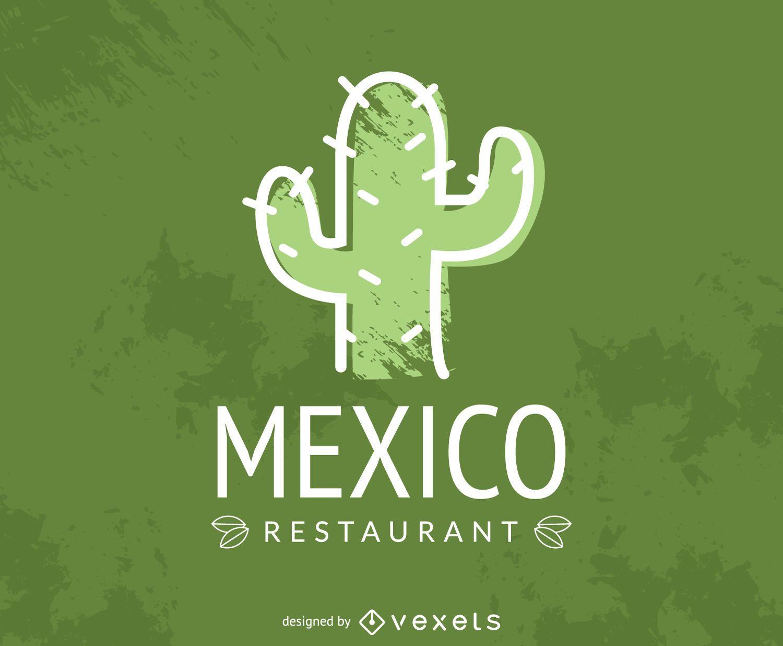 Logotipo de cactus restaurante mexicano