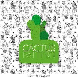 Kaktus-Zeichnungsmuster