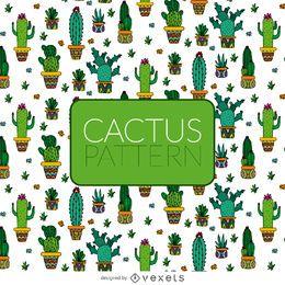 patrón ilustrado de cactus