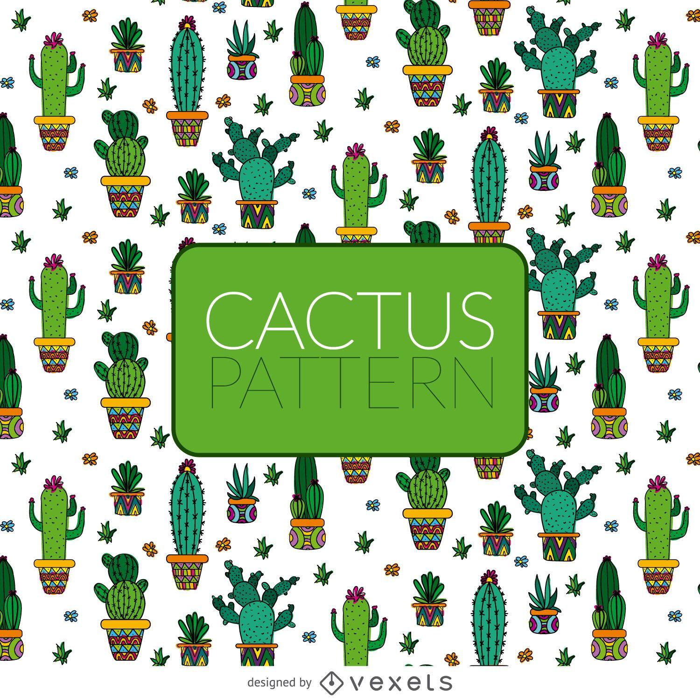 Illustrated cactus pattern