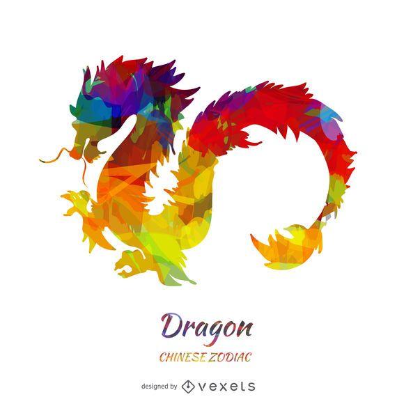 Ilustração do dragão do Zodíaco Chinês