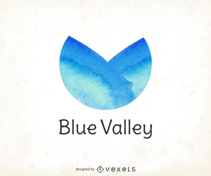 Logotipo aquarela azul