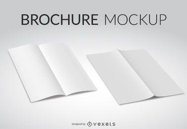 Weiße Broschüre Mockup