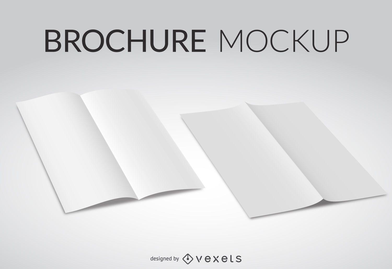 Maqueta de folleto blanco
