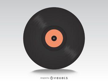 Disco de vinilo maqueta