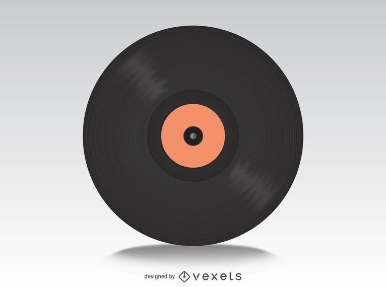 Maquete de discos de vinil