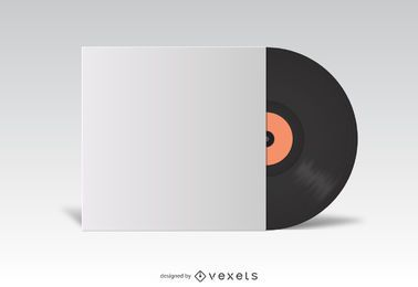 Vinyl LP cover white mockup