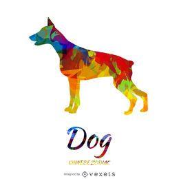 Ilustração chinesa do cão do zodíaco