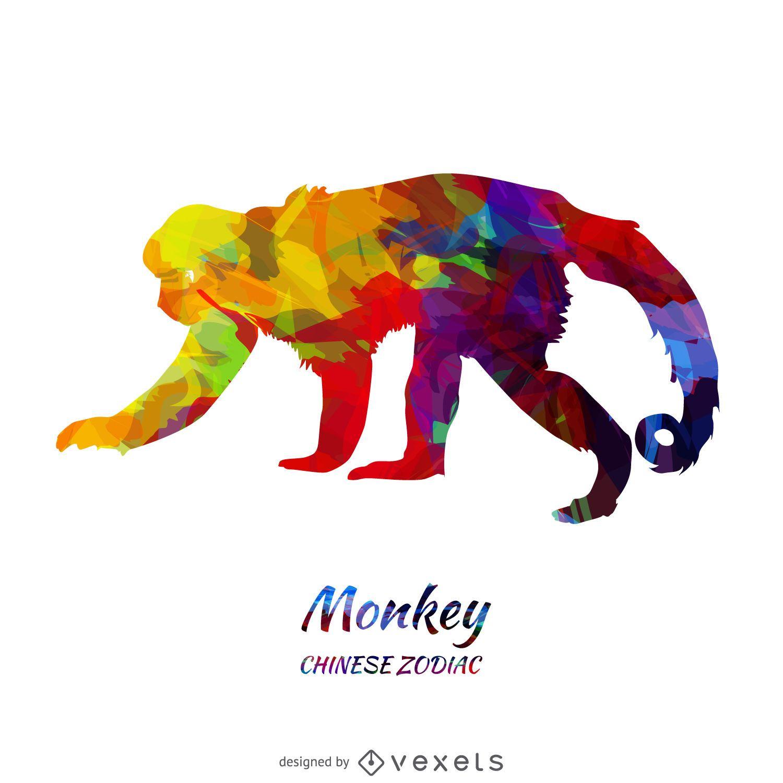 Mono chino del zodiaco - Descargar vector