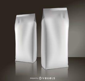 Maquete de embalagens de café
