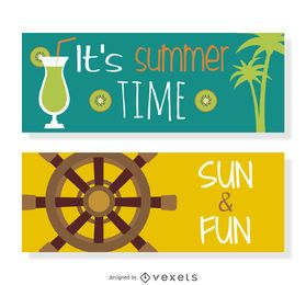 conjunto de vectores de verano