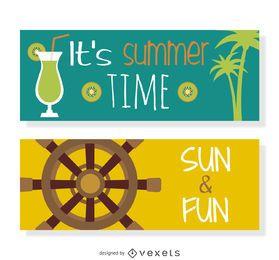 Conjunto de vetores de verão