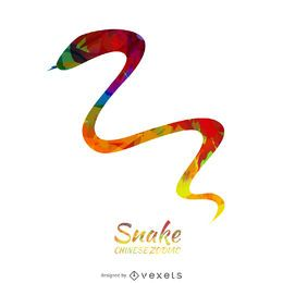 Colorful chinese zodiac snake illustration