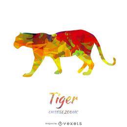 Desenho de tigre do Zodíaco Chinês