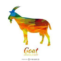 Ilustración de cabra del zodiaco chino