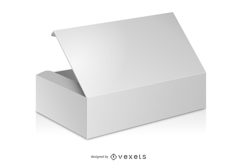 Maqueta de caja en blanco