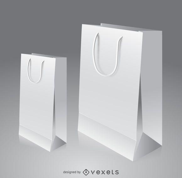 Maqueta de bolsa de papel