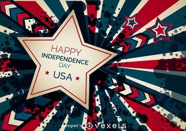 bandeira feliz do Dia da Independência