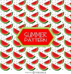 Patrón de fresa de verano
