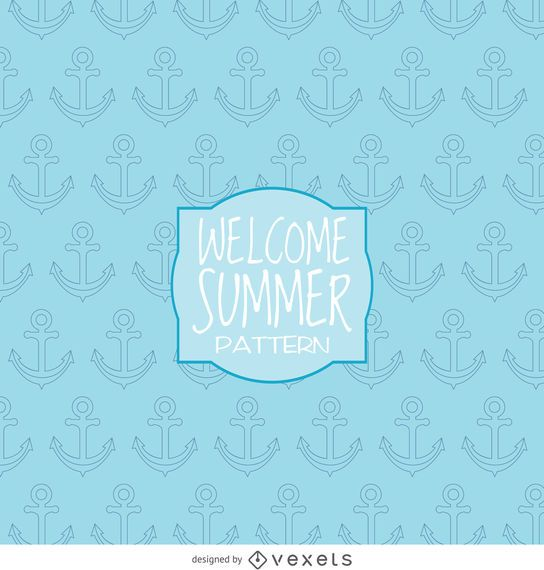 Summer anchor drawing pattern