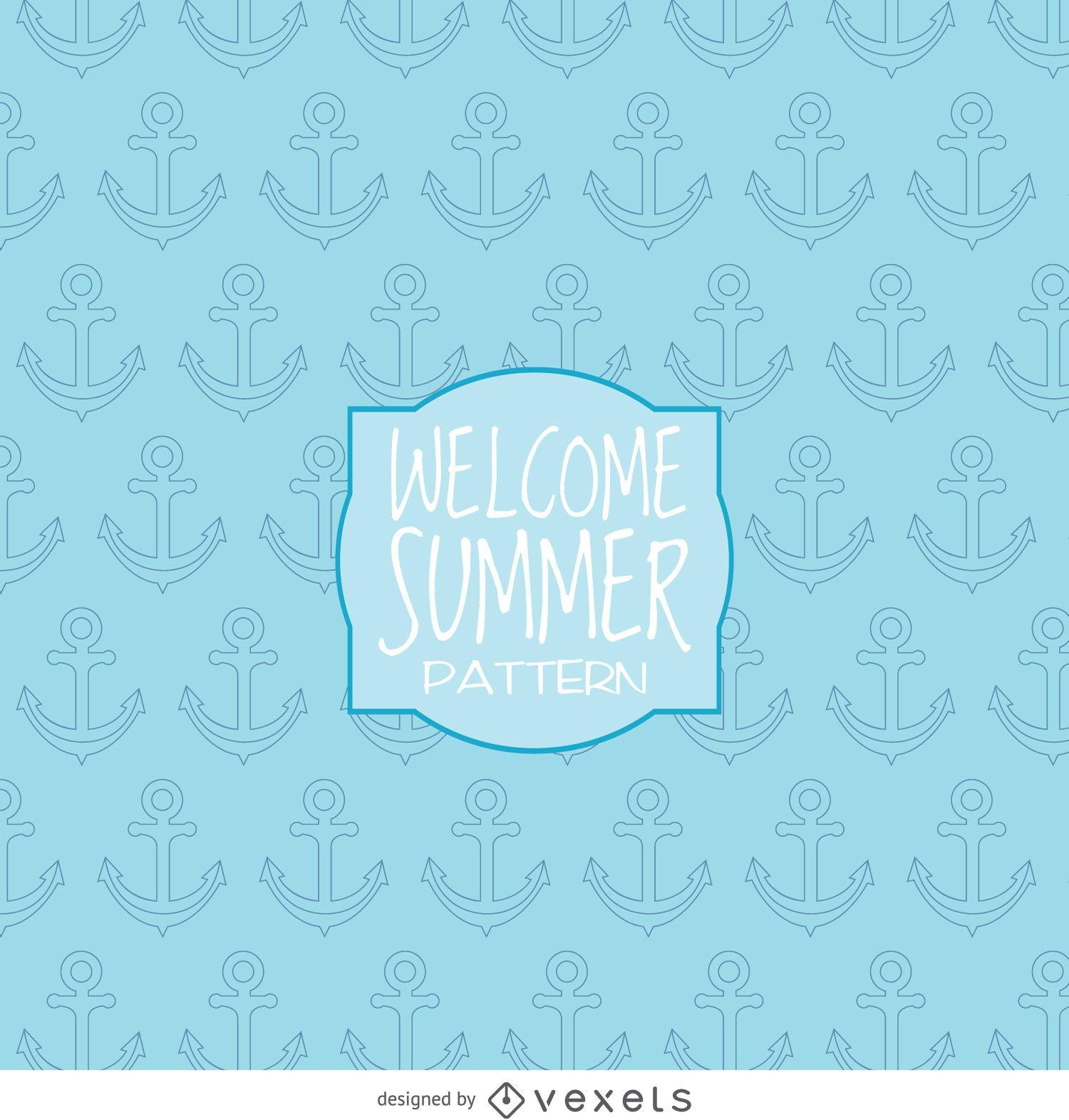 Summer anchor drawing pattern