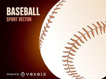 Ilustración de la bola de béisbol