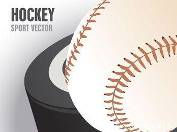 cartel de disco de hockey