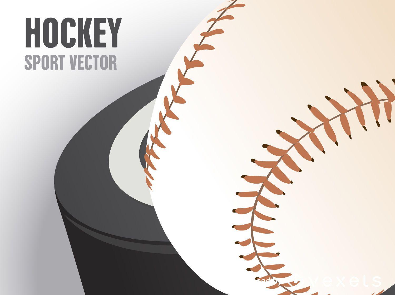 Hockey puck poster