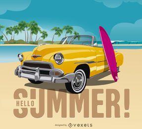 El diseño colorido del verano