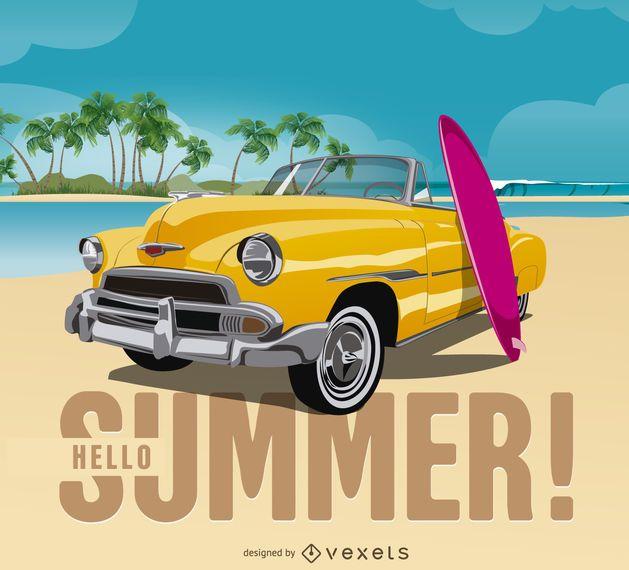 Colorful summer design