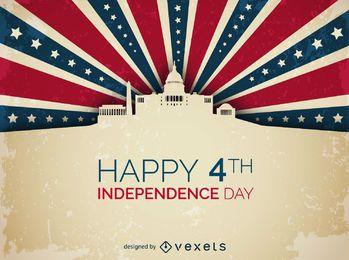 Unabhängigkeitstag-Design des Weißen Hauses