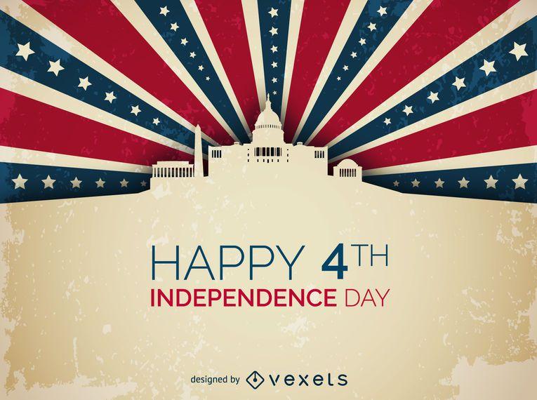 Diseño de la Casa Blanca del Día de la Independencia