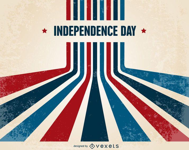 Design retrô do dia da independência