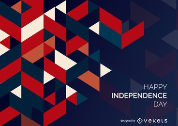 Polygonal Independence Day Textur