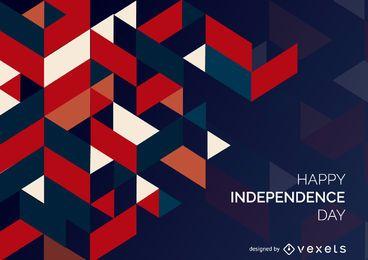 Textura poligonal del día de la independencia