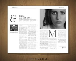 Editorial design template
